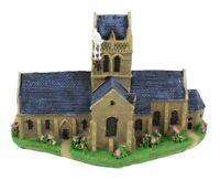 Saint Mere Eglise Normandie Kirche Poly Modell 11,5 cm Frankreich Souvenir