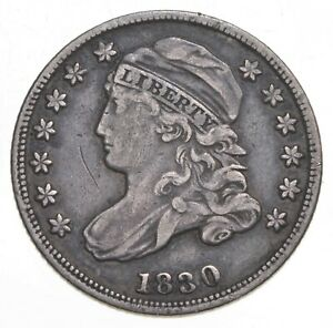 1830 Capped Bust Dime - Walker Coin Collection *908