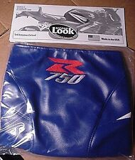 NEW 2006 SUZUKI GSXR 750 TANK BRA Blue/White w/LOGO SECOND LOOK MOTORCYCLE COVER