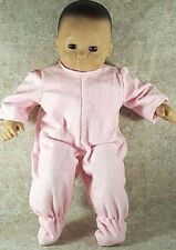 """Doll Clothes Baby Made 2 Fit American Girl 15"""" inch Bitty Pajamas Pink"""