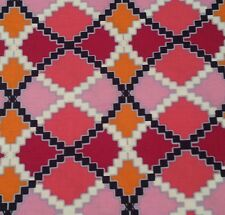 Kaleidoscope by Design Loft for FreeSpirit Bty Argyle Fuchsia Navy Orange Rose