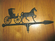 Wrought Iron Horse and Buggy Weathervane /Amish Directional Vane Top