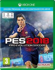 Xbox One PES 2018 Pro Evolution Soccer Nuevo Precintado Pal España
