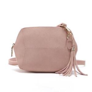 Women Handbag Faux Suede Leather Clutch Shoulder Messenger Bag Tote Satchel Bag