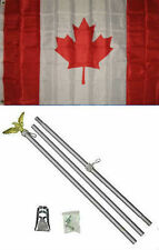 3x5 Canada Canadian Flag Aluminum Pole Kit Set 3'x5'