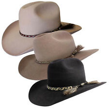 Akubra Rough Rider Traditional Australian Made Bush Cowboy Hat Size 51-65cm