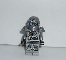 Lego Minifig Figure Ninjago Titanium Ninja Silver Authentic