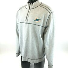 Tommy Bahama Miami Dolphins NFL Football 1 4 Zipper Reversible Sweater Mens  2XL 50078f804