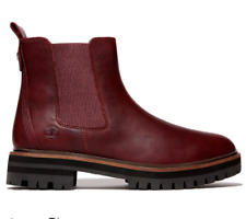 Timberland London Square Chelsea Womens Boots UK 6 39 Burgundy New RRP £150