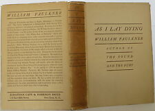 WILLIAM FAULKNER As I Lay Dying FIRST EDITION
