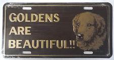 Golden Retriever License Plate Vintage 1978