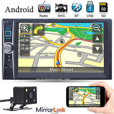 "Android 7"" Double 2DIN In Dash Car MP3 Touch FM Radio Stereo Player +Rear Camera"