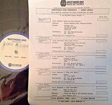 Radio Show: WESTWOOD ONE PRESENTS EDDIE RAVEN  LIVE IN CONCERT 9/18/89 14 SONGS