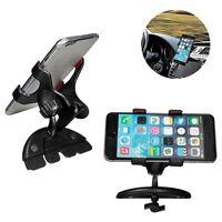 Black 360° Universal Car CD Slot Mount Holder Stand Support For Mobile Phone GPS