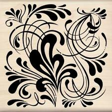Inkadinkado Flourish Background Wood Stamp