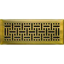 Antique Brass Wicker Floor Vent 100x300mm Neck