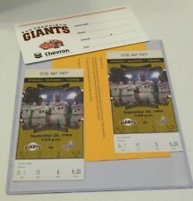 New ListingBaseball ticket stubs 2 1999 Sf Giants La Dodgers Final Candlestick Park Game