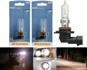 Sylvania Basic 9005 HB3 65W Two Bulbs Head Light High Beam Replace Stock Lamp OE