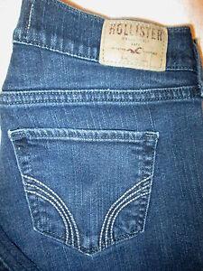 Hollister Laguna Skinny Stretch Juniors Womens Dark Blue Jeans Size 3 S x 29