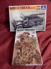 1/35 2 Lot Italeri US 1 1/2 Ton Dodge Personnel Carrier & Tamiya Seated GIs