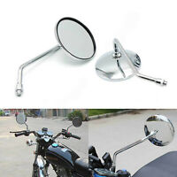 Chrome Motorcycle Rearview Side Mirrors for Suzuki Boulevard GS400 GS750 GS1000