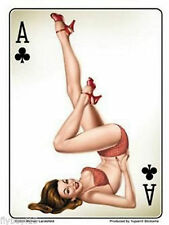 ADESIVI DECAL PIN UP Ace of Clubs artist Michael landefeld Rockabilly Retrò