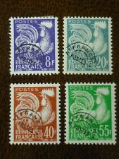 FRANCE 1959 Gallic Cock pre-cancel set of 4 vf MINT never hinged SG 1199-1201d