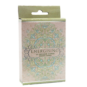 Energising Incense Cones Home Fragrances Aroma Scent Relaxing Holder Plate Insen