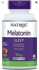 Natrol Melatonin Fast Dissolve Tablets Helps You Fall Asleep Faster 100 Capsules