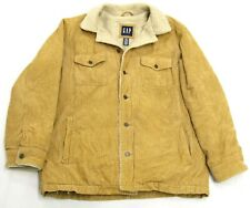 Men's GAP Corduroy Sherpa Lined Rancher Western Coat Jacket Large L