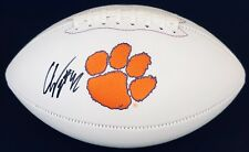 PSA/DNA Clemson Tigers #42 CHRISTIAN WILKINS Signed Autographed Logo Football