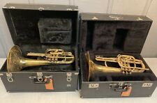 PAIR OF BACH MARCHING MELLOPHONES IN GOOD PLAYING CONDITION 34204 & 39676