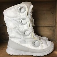The North Face Womens Goose Down Snow Winter Boots Size 7 White Quilted