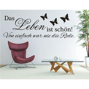 Wandtattoo Spruch  Das Leben ist schön von Wandsticker Wandaufkleber Sticker
