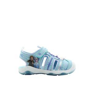 New Disney's Frozen 2 Anna & Elsa Toddler Girls' Light Up Sandals 8 9 10