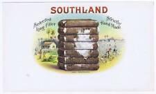 Southland, Original inner cigar box label, palmtrees, farmers