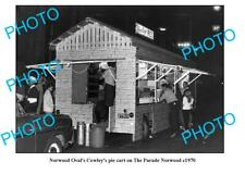 OLD 8x6 PHOTO NORWOOD OVAL COWLEYS PIE CART 1970 ADELAIDE SOUTH AUSTRALIA