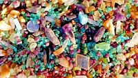 Great 450+Carat Lot Multi Gem Tiny-Med Szs Rough Crystals Sapphire Ruby Emerald+