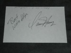 David Hasselhoff -  Autogramm - signiert - signed - Autograph - in Person