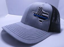 Police Thin Blue Line Cap Mid Profile Hat Baseball (FREE NAME ON CAP 3D)