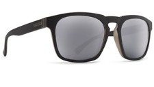 Von Zipper BANNER Sunglasses Black Satin - Grey Silver Chrome Lens Made in Italy