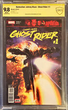 Damnation: Johnny Blaze Ghost Rider #1 CBCS 9.8 Signed By Clayton Crain