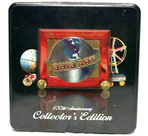 Ohio Art Vintage Etch A Sketch - 100th Anniversary Collector's Edition - Red Tin