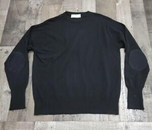 Vintage N•Peal for Saks Fifth Avenue L/S 100% Cashmere Pullover W/ Shoulder Pads