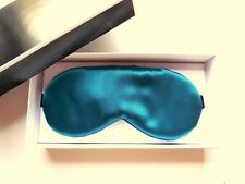 Real Silk Sleep Mask Adjustable Women Gift Box Blindfold Eye Shade Cover Teal
