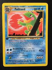 Politoed 27/75 1st Edition Rare Neo Discovery Pokemon cards MINT TCG
