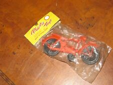 VINTAGE TOY MOTORCYCLE  HONG KONG PLASTIC TOYS MINT IN PACK 4 3/4 ""