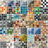 18pcs 3D Mosaic Self-adhesive Bathroom Kitchen Decor Home Wall Tile Stickers