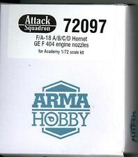 Attack Squadron Models 1/72 F/A-18 HORNET GE F 404 ENGINE NOZZLES Resin Set