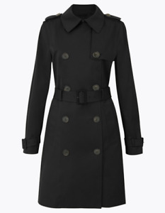 Ex M*S Cotton Double Breasted Trench Coat Size 20 (AR13.59)